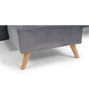 Load image into Gallery viewer, Abigail Grey Velvet Left Hand Facing Chaise Sofa - Modern Home Interiors