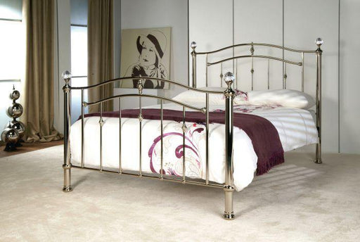 Callisto Chrome Metal Bed Frame - Modern Home Interiors