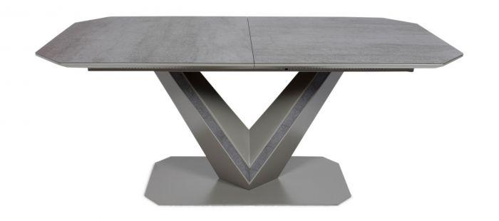 Bellagio Ceramic Ext Dining Table Grey - 180-220cm - Modern Home Interiors