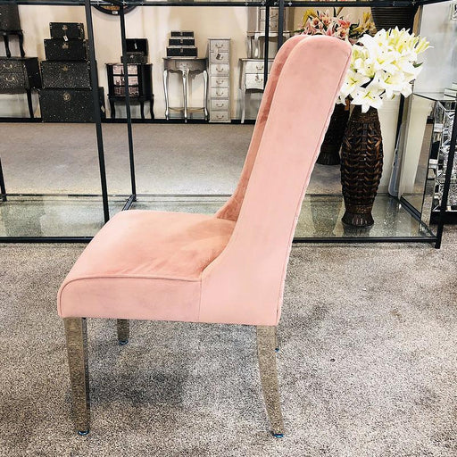 Kyoto Pink Quilted Knockerback Chair - Modern Home Interiors