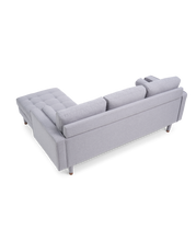 Load image into Gallery viewer, Liam Grey Linen 3 Seater Reversible Chaise Sofa - Modern Home Interiors