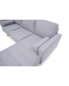 Liam Grey Linen 3 Seater Reversible Chaise Sofa - Modern Home Interiors