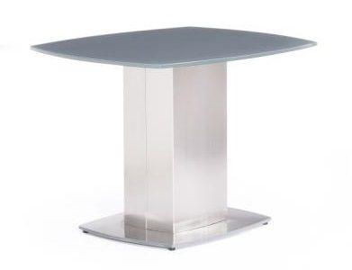 Olivia Grey Glass Side Table - Modern Home Interiors