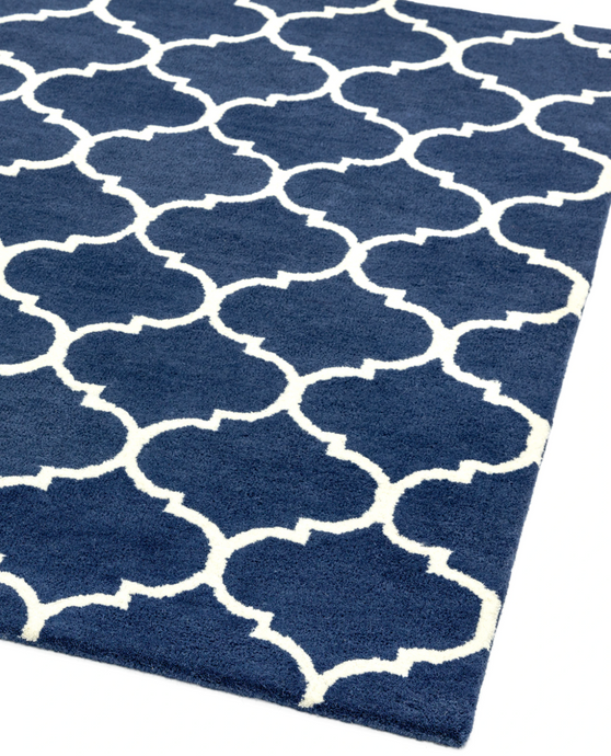 Albany Ogee Blue Rug - 4 Sizes Available - Modern Home Interiors
