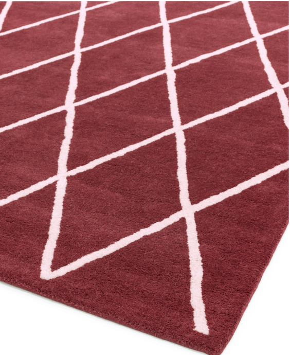 Albany Diamond Berry Rug - 4 Sizes Available - Modern Home Interiors