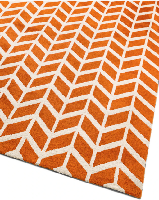 Arlo Chevron Orange Rug - 4 Sizes Available - Modern Home Interiors