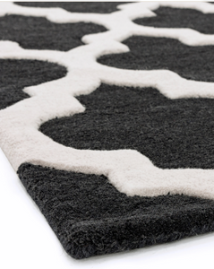 Artisan Charcoal Rug - 3 Sizes Available - Modern Home Interiors
