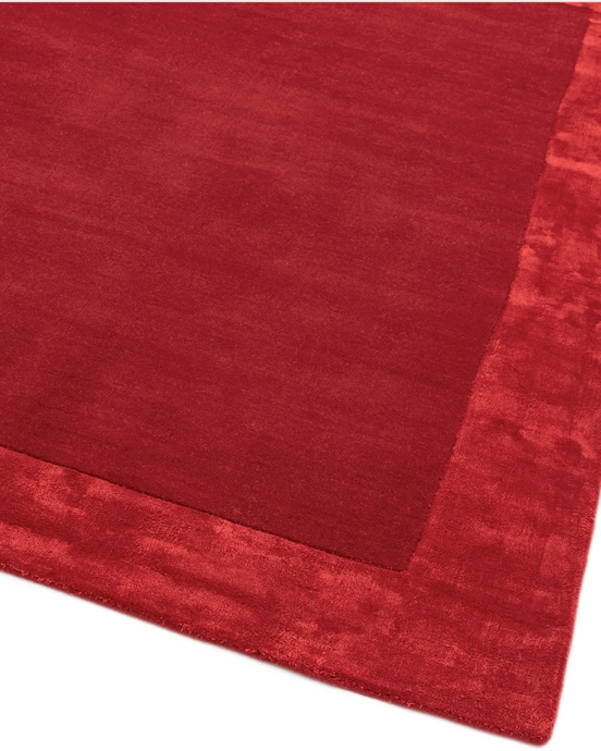 Ascot Red Rug - 4 Sizes Available - Modern Home Interiors