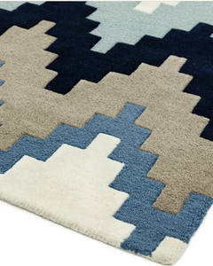Matrix Wool Rug - Cuzzo Blue - Modern Home Interiors