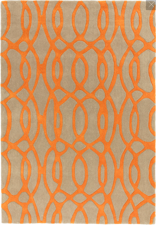 Matrix Wool Rug - Wire Orange - Modern Home Interiors