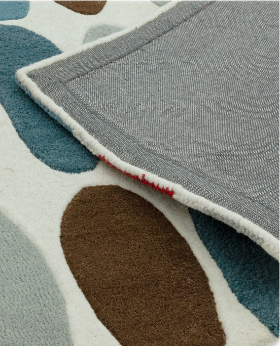 Matrix Wool Rug - Sofia Red/Teal - Modern Home Interiors
