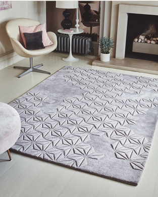 Starburst Hand Tufted Extra Thick Rug - Lilac - Modern Home Interiors