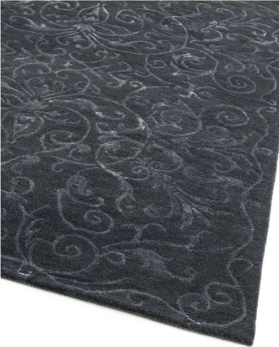 Victoria Authentic New Zealand Wool Rug - Midnight - Modern Home Interiors