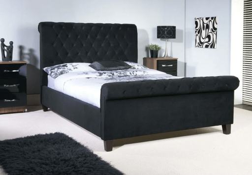 Limelight Orbit Black Velvet Bed Frame - Modern Home Interiors