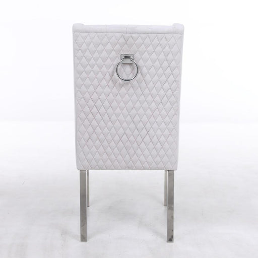 Kyoto Silver Quilted Knockerback Chair - Modern Home Interiors