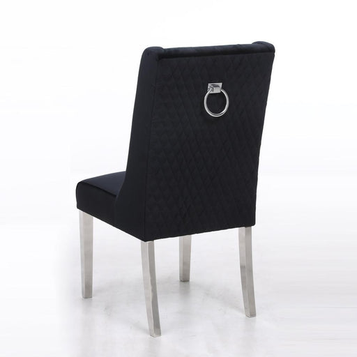 Kyoto Black Quilted Knockerback Chair - Modern Home Interiors