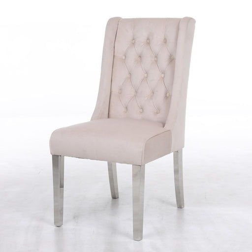 Kyoto Mink Quilted Knockerback Chair - Modern Home Interiors