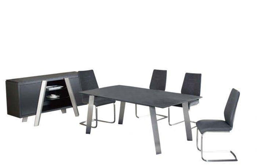 Agata Grey Ceramic Extending Dining Table - Modern Home Interiors