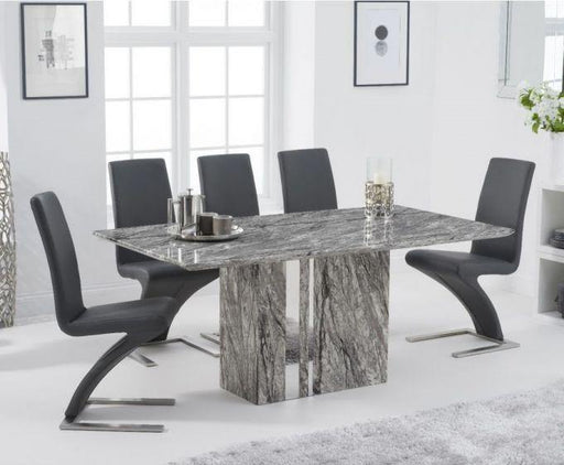 Alice 180cm Grey Marble Dining Table - Modern Home Interiors