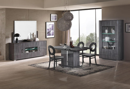 Armony Grey High Gloss 4 Door Sideboard With LED Lights - Modern Home Interiors