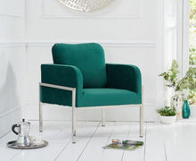 Load image into Gallery viewer, Breva Velvet Accent Chair - Modern Home Interiors