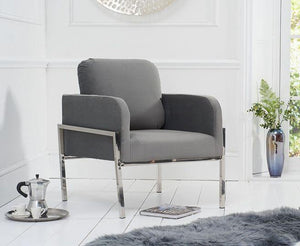 Breva Velvet Accent Chair - Modern Home Interiors
