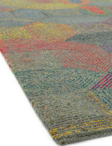 Camden Hand Tufted Luxury Grey/Multicolour Rug - Modern Home Interiors