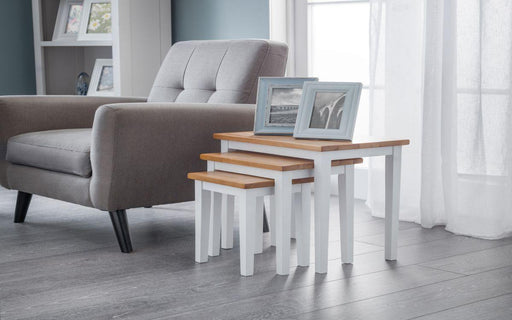 Cleo Nest of Tables Solid Rubberwood - All Colours - Modern Home Interiors