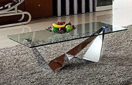 Florentina Glass Coffee Table - Modern Home Interiors