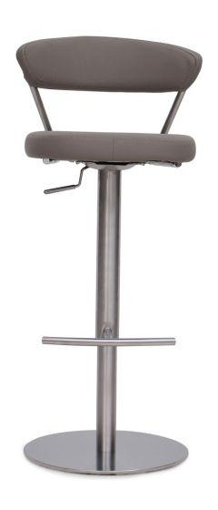Gino Taupe Leather Barstool - Modern Home Interiors