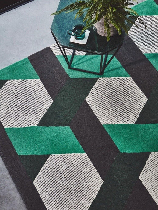 Camden Hand Tufted Luxury Green Rug - Modern Home Interiors