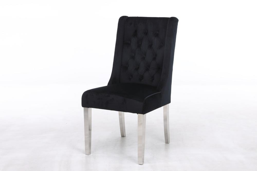 Kyoto Quilted Velvet Ring Dining Chair - 5 Colours Available - Modern Home Interiors