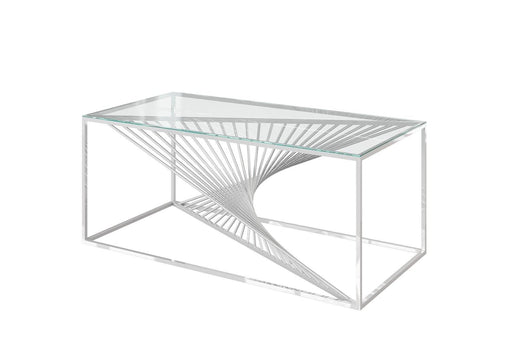 Abstract Glass Coffee Table - Modern Home Interiors