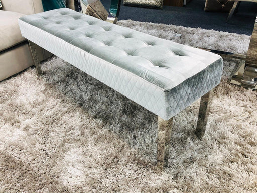 Chelsea 130cm Bench - Pewter Silver - Modern Home Interiors
