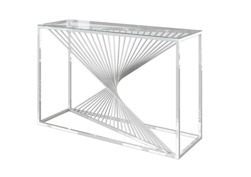 Abstract Glass Console Table - Modern Home Interiors