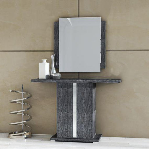 Armony Grey High Gloss Console Table - Modern Home Interiors