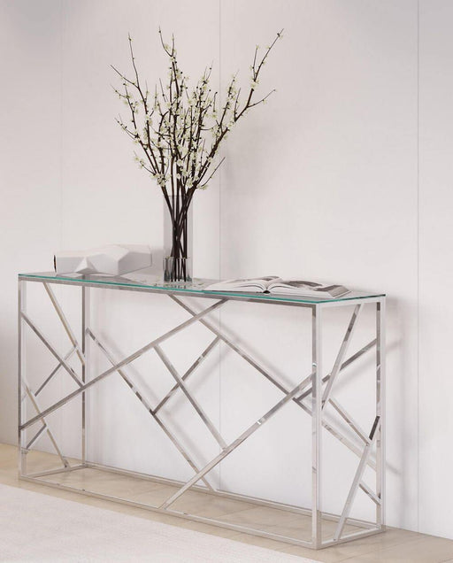 Kieta Glass Console Table - Modern Home Interiors