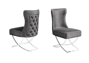 Maria Velvet Button Back Dining Chair - Modern Home Interiors