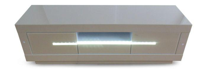 Monte Carlo Cream High Gloss Entertainment Unit With LED - Modern Home Interiors