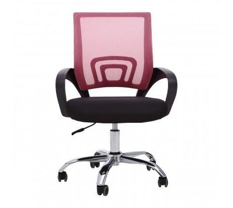 Pink Home Office Chair With Black Armrest - Modern Home Interiors