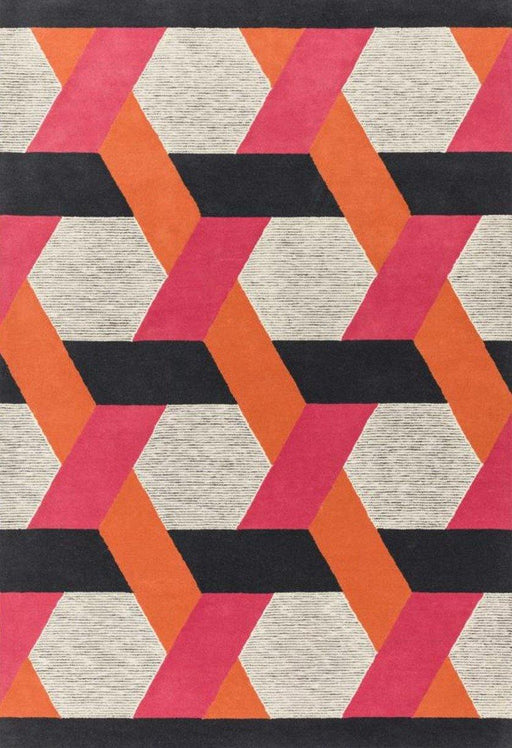 Camden Hand Tufted Luxury Orange/Pink Rug - Modern Home Interiors
