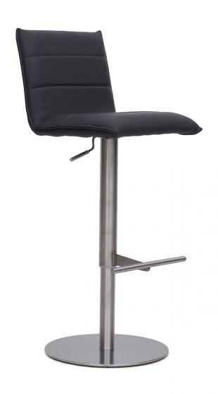 Riva Grey Leather Barstool - Modern Home Interiors