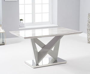 Rosario 150cm Rectangular High Gloss Light Grey Dining Table - Modern Home Interiors