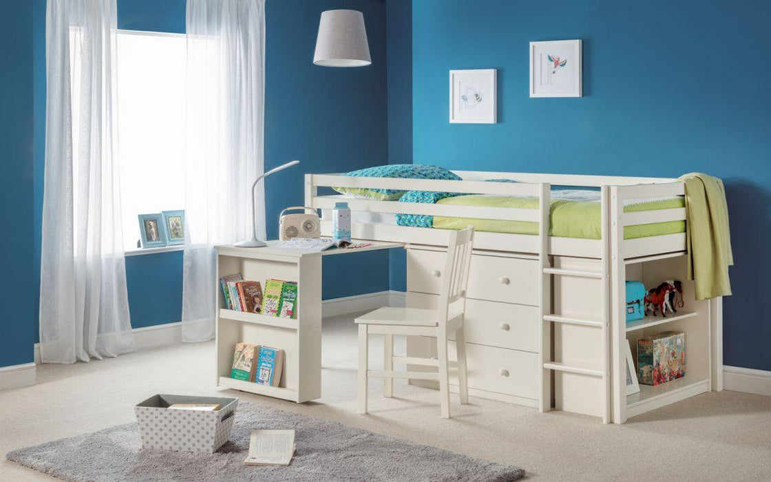 Roxy Midsleeper with Desk and Storage - Modern Home Interiors