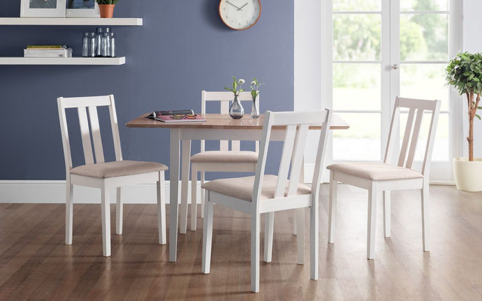Julian Bowen Rufford 2 Tone Dining Table and Set - Modern Home Interiors