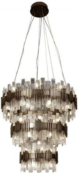 RV Astley Saiph Painted Gold 80cm Chandelier - Modern Home Interiors