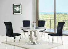 Load image into Gallery viewer, Liarra Plush Velvet Fabric Dining Chair - Black - Modern Home Interiors