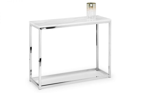Zara White Marble Top Console Table - Modern Home Interiors