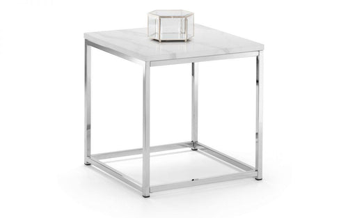 Zara White Marble Top Lamp Table - Modern Home Interiors