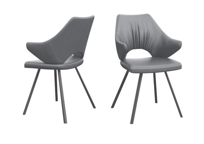 Zola Grey Faux Leather Dining Chair - Modern Home Interiors